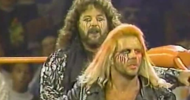 Image result for wcw halloween havoc 1990 The Renegade Warriors vs The Fabulous Freebirds